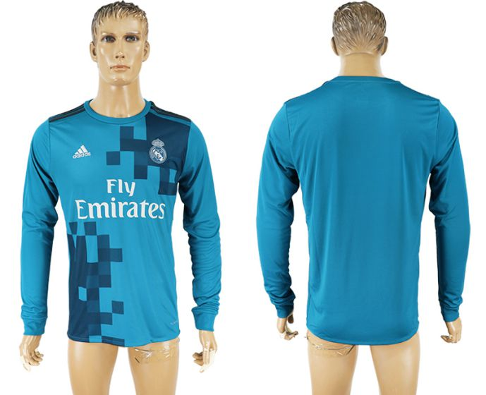 Men 2017-2018 club Real Madrid away long sleeve aaa version soccer jersey