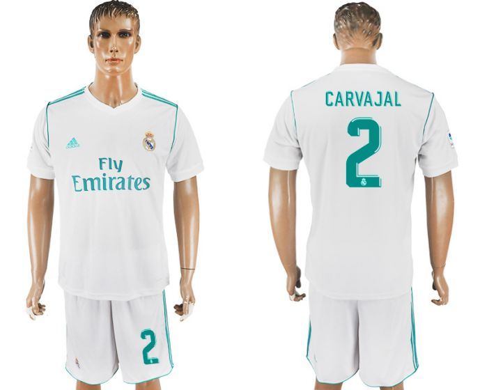 Men 2017-2018 club Real Madrid home 2 white soccer jersey