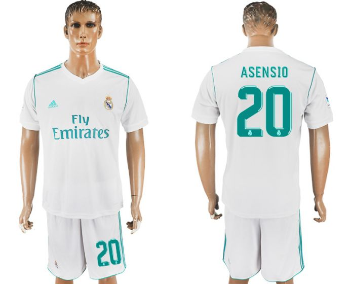 Men 2017-2018 club Real Madrid home 20 white soccer jersey