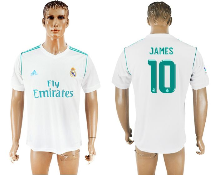 Men 2017-2018 club Real Madrid home aaa version 10 white soccer jersey