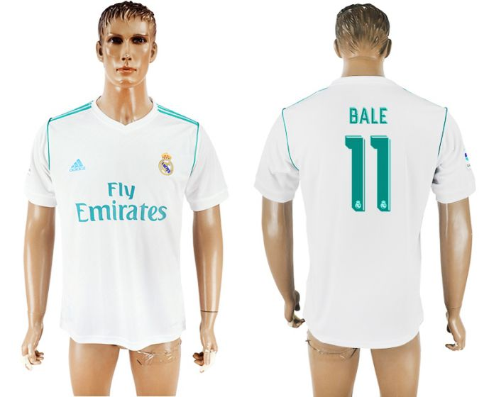 Men 2017-2018 club Real Madrid home aaa version 11 white soccer jersey