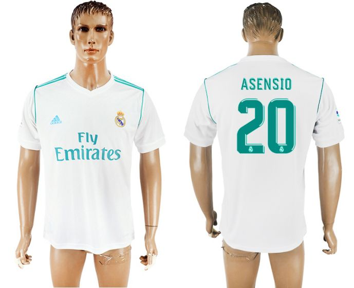 Men 2017-2018 club Real Madrid home aaa version 20 white soccer jersey