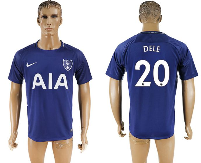 Men 2017-2018 club Tottenham Hotspur away aaa versio 20 blue soccer jersey