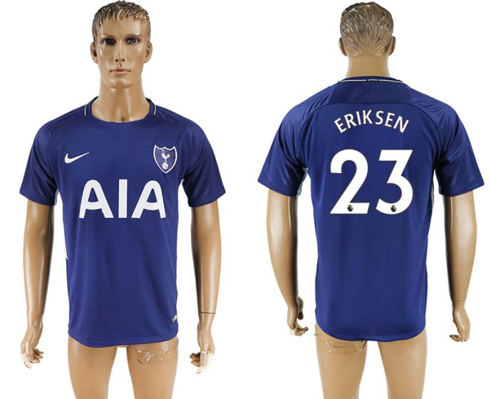 Men 2017-2018 club Tottenham Hotspur away aaa versio 23 blue soccer jersey