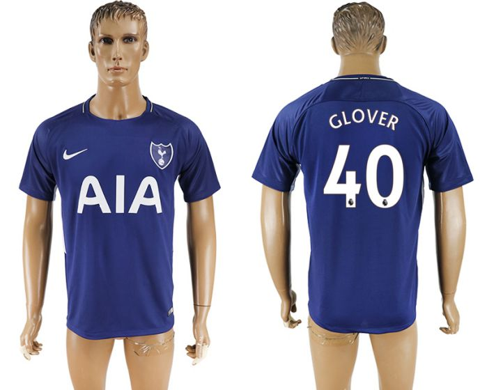 Men 2017-2018 club Tottenham Hotspur away aaa versio 40 blue soccer jersey