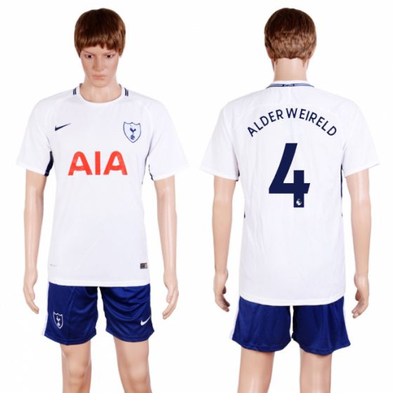 Men 2017-2018 club Tottenham Hotspur home 4 white soccer jersey
