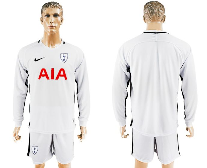 Men 2017-2018 club Tottenham Hotspur home long sleeve soccer jersey