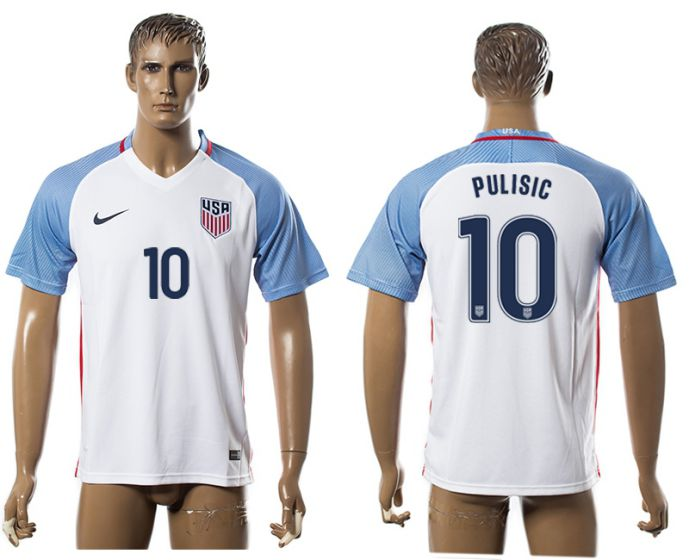 Men 2017-2018 national America home aaa version 10 soccer jersey
