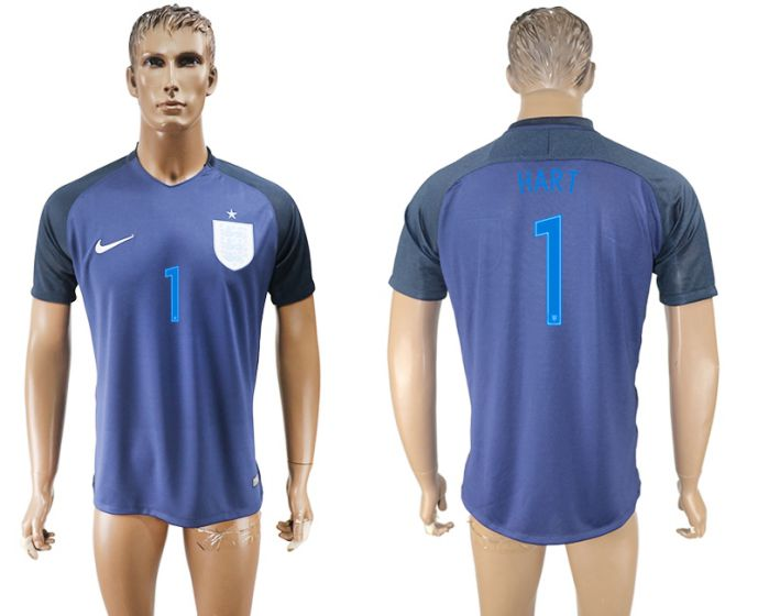 Men 2017-2018 national England away aaa version 1 hart soccer jersey