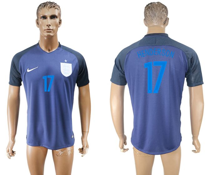Men 2017-2018 national England away aaa version 17 soccer jersey