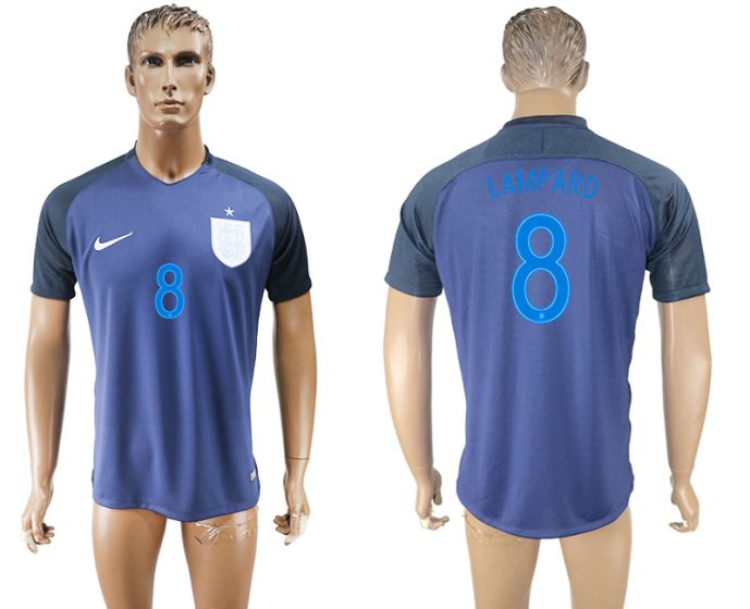 Men 2017-2018 national England away aaa version 8 Lampard soccer jersey