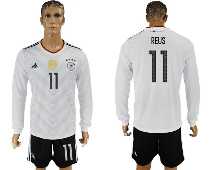 Men 2017-2018 national Germany home long sleeve 11 reus soccer jersey