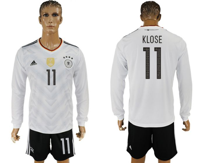 Men 2017-2018 national Germany home long sleeve 11 soccer jersey