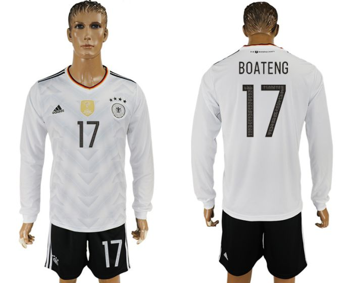 Men 2017-2018 national Germany home long sleeve 17 soccer jersey