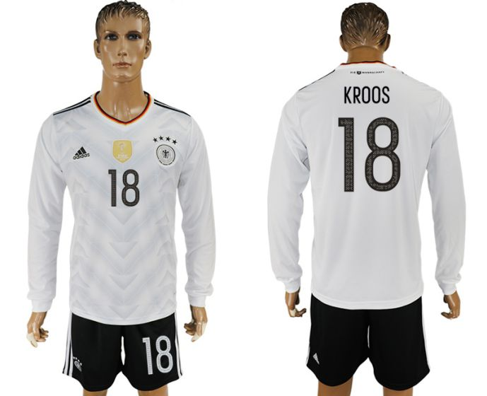 Men 2017-2018 national Germany home long sleeve 18 soccer jersey