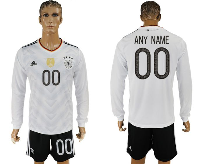 Men 2017-2018 national Germany home long sleeve customized soccer jersey