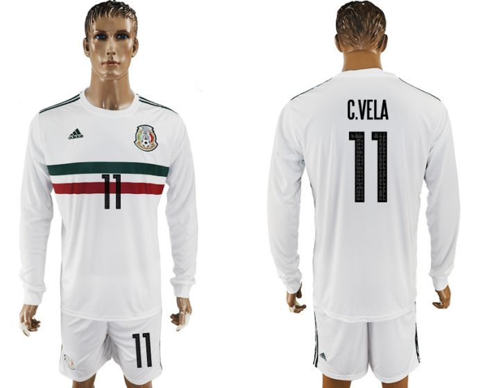 Men 2017-2018 national Mexico away long sleeve 11 soccer jersey