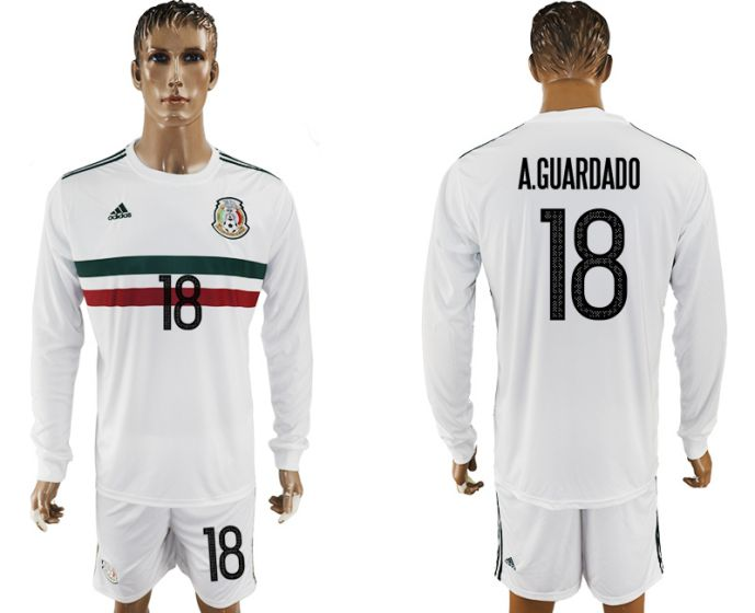 Men 2017-2018 national Mexico away long sleeve 18 soccer jersey