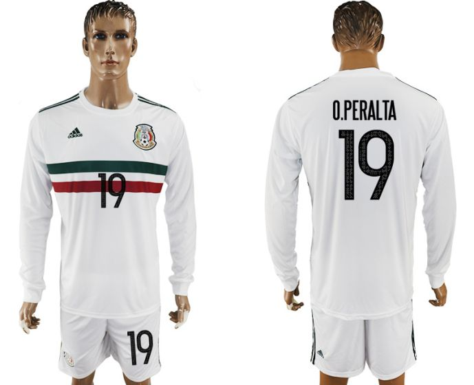Men 2017-2018 national Mexico away long sleeve 19 soccer jersey