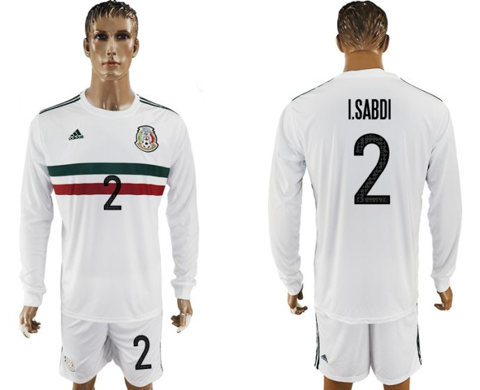 Men 2017-2018 national Mexico away long sleeve 2 soccer jersey
