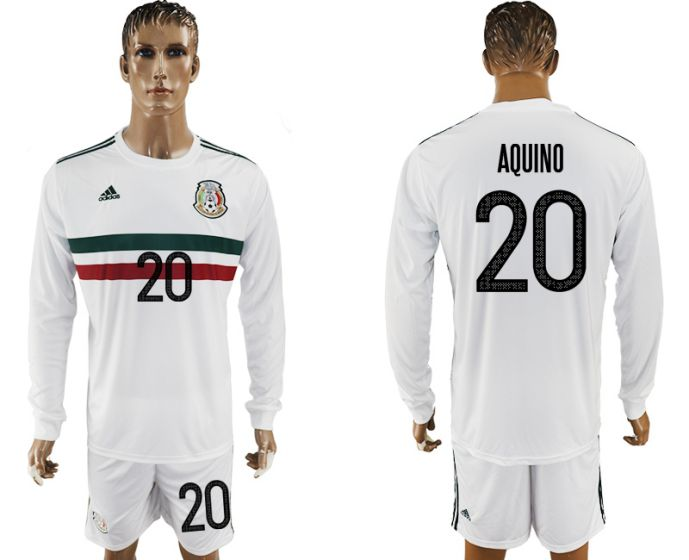 Men 2017-2018 national Mexico away long sleeve 20 soccer jersey