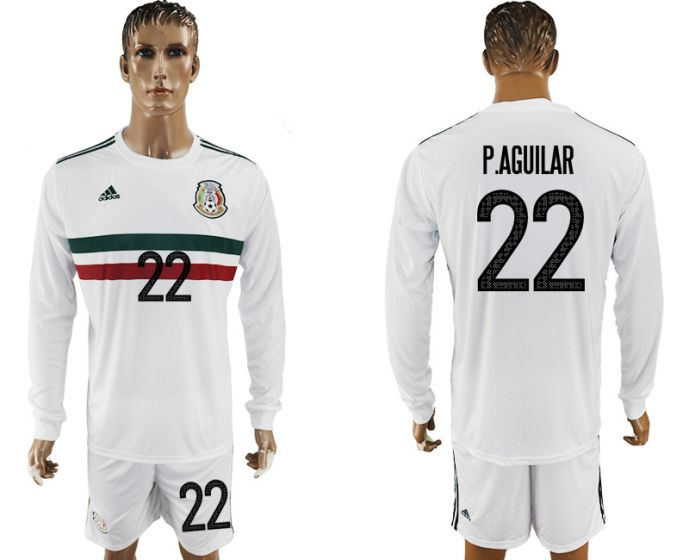 Men 2017-2018 national Mexico away long sleeve 22 soccer jersey