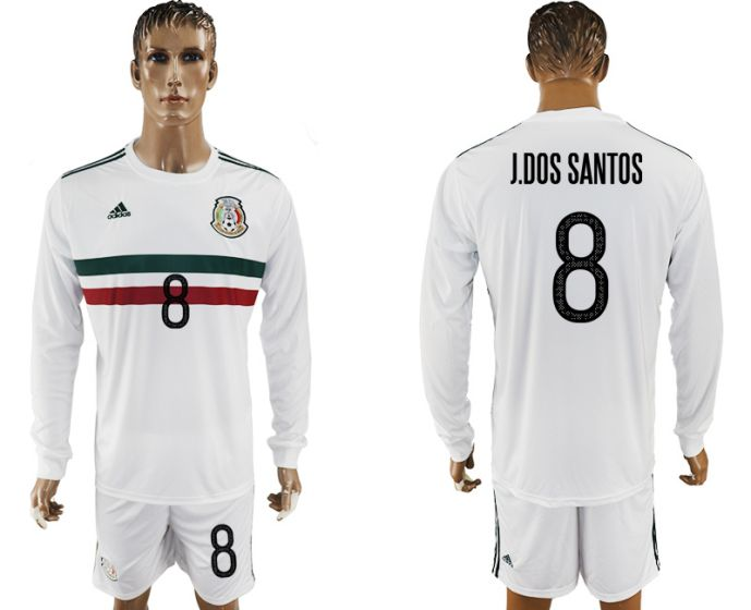 Men 2017-2018 national Mexico away long sleeve 8 soccer jersey