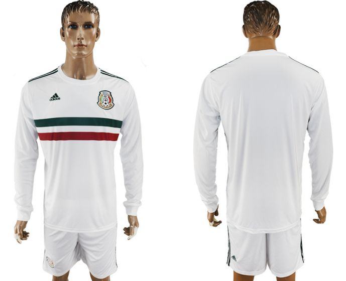 Men 2017-2018 national Mexico away long sleeve soccer jersey