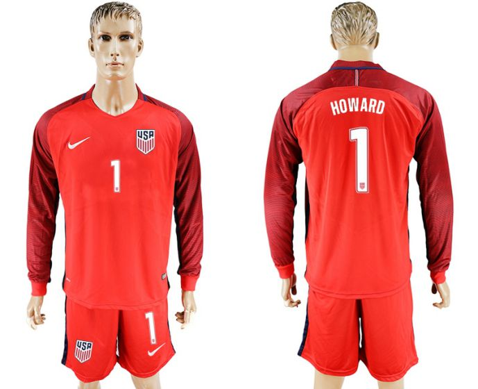 Men 2017-2018 national USA away long sleeves 1 soccer jersey