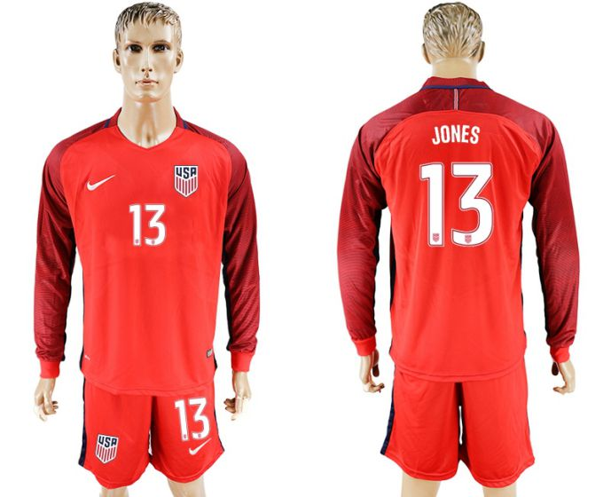 Men 2017-2018 national USA away long sleeves 13 soccer jersey
