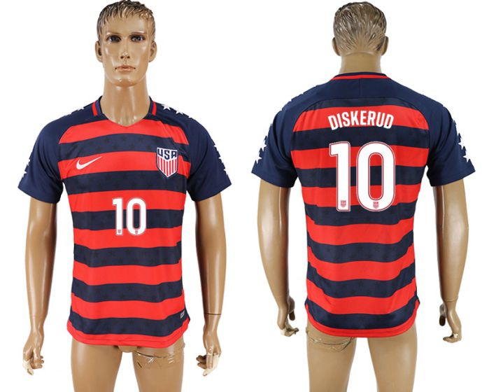 Men 2017-2018 national United States away aaa version 10 Diskerud soccer jersey