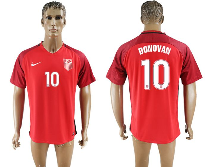 Men 2017-2018 national United States away aaa version 10 Donovan soccer jersey