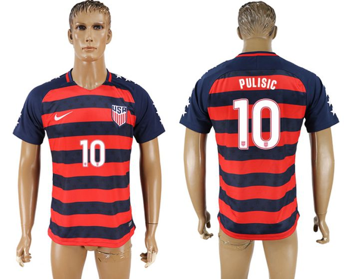 Men 2017-2018 national United States away aaa version 10 Pulisic soccer jersey