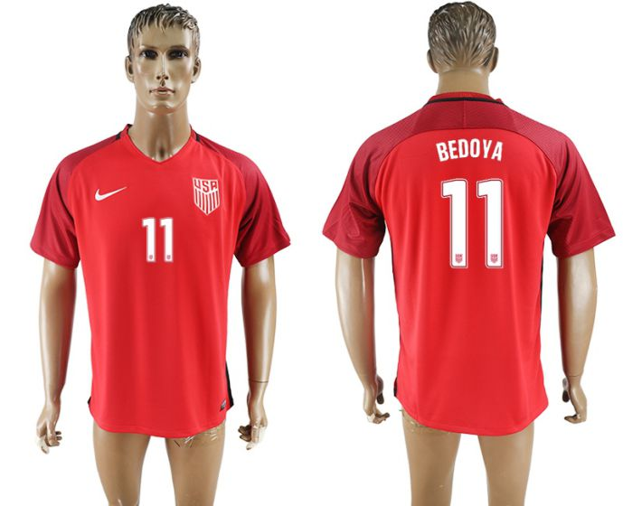 Men 2017-2018 national United States away aaa version 11 red soccer jersey