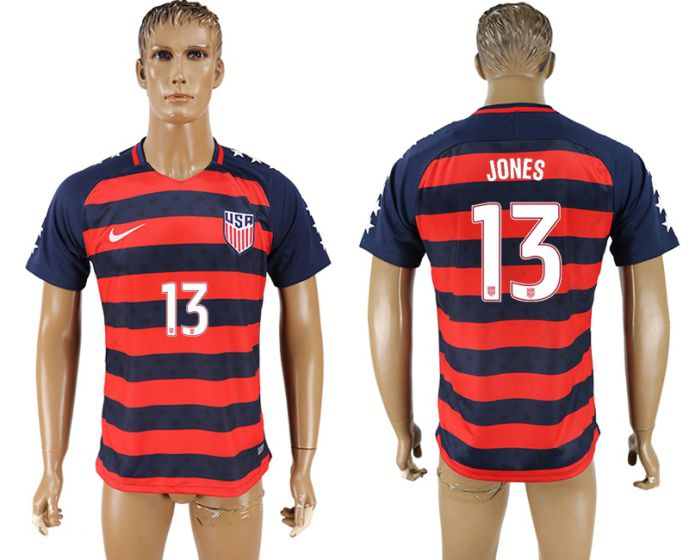 Men 2017-2018 national United States away aaa version 13 Jones soccer jersey