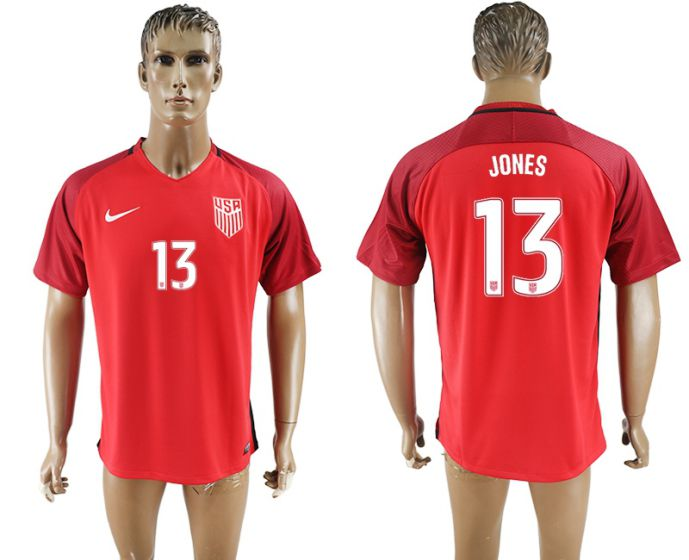 Men 2017-2018 national United States away aaa version 13 red soccer jersey
