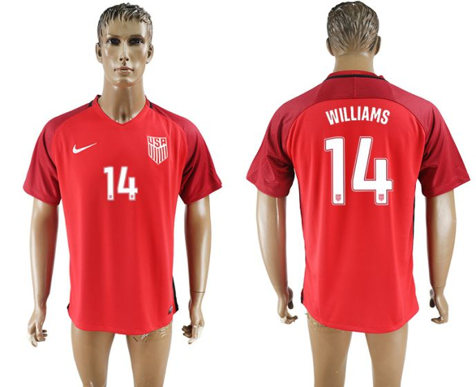 Men 2017-2018 national United States away aaa version 14 red soccer jersey