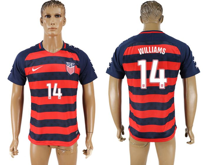 Men 2017-2018 national United States away aaa version 14 soccer jersey