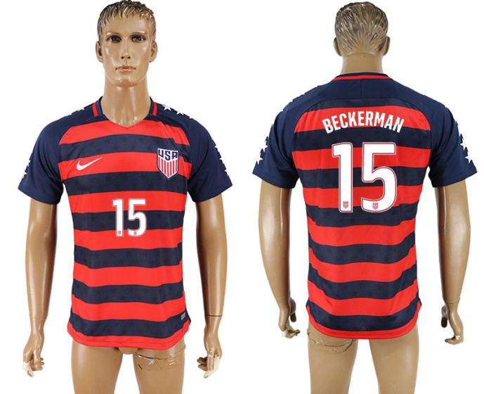 Men 2017-2018 national United States away aaa version 15 Beckerman soccer jersey