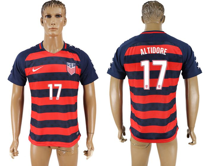 Men 2017-2018 national United States away aaa version 17 Altidore soccer jersey