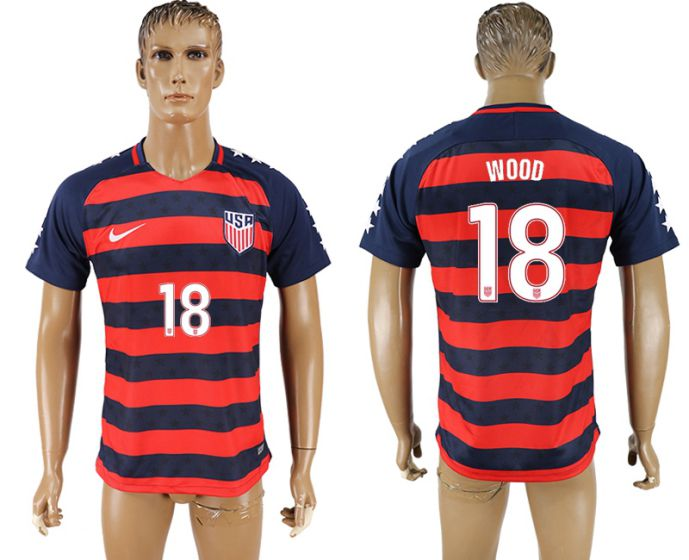 Men 2017-2018 national United States away aaa version 18 soccer jersey