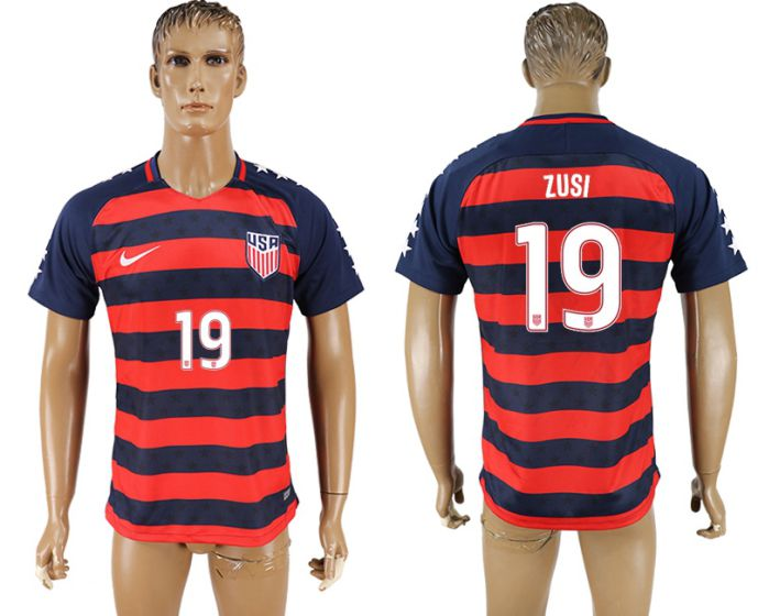 Men 2017-2018 national United States away aaa version 19 soccer jersey