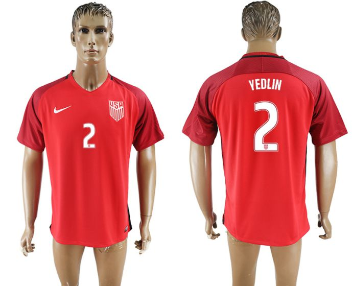 Men 2017-2018 national United States away aaa version 2 yedlin soccer jersey