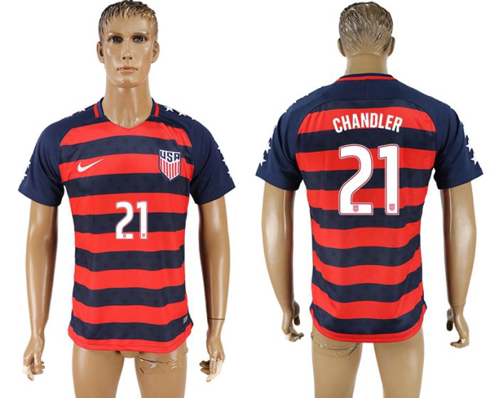 Men 2017-2018 national United States away aaa version 21 soccer jersey