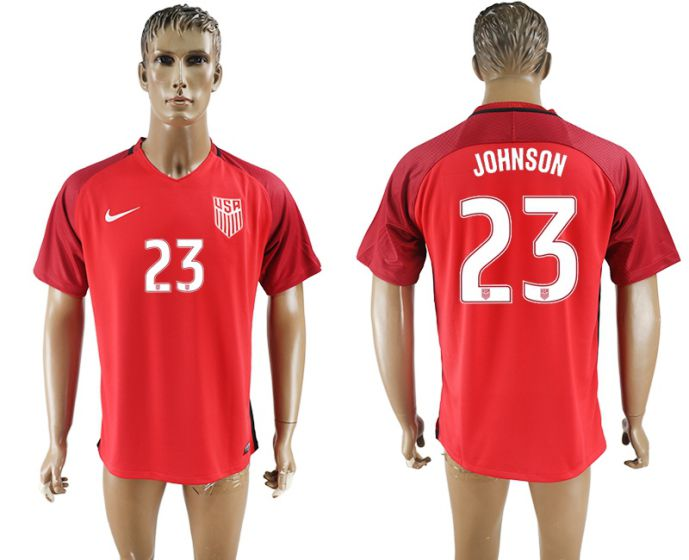 Men 2017-2018 national United States away aaa version 23 red soccer jersey