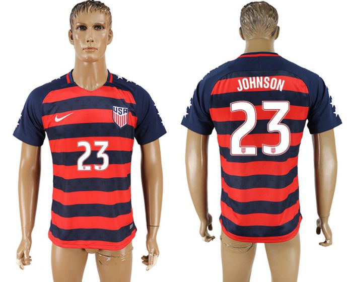 Men 2017-2018 national United States away aaa version 23 soccer jersey