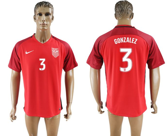 Men 2017-2018 national United States away aaa version 3 gonzalez soccer jersey