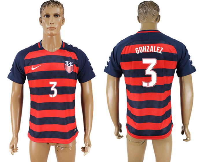 Men 2017-2018 national United States away aaa version 3 soccer jersey