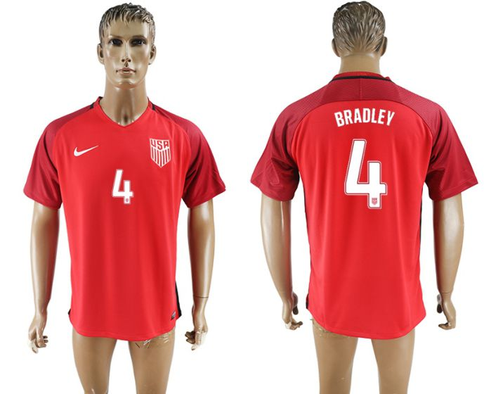 Men 2017-2018 national United States away aaa version 4 red soccer jersey