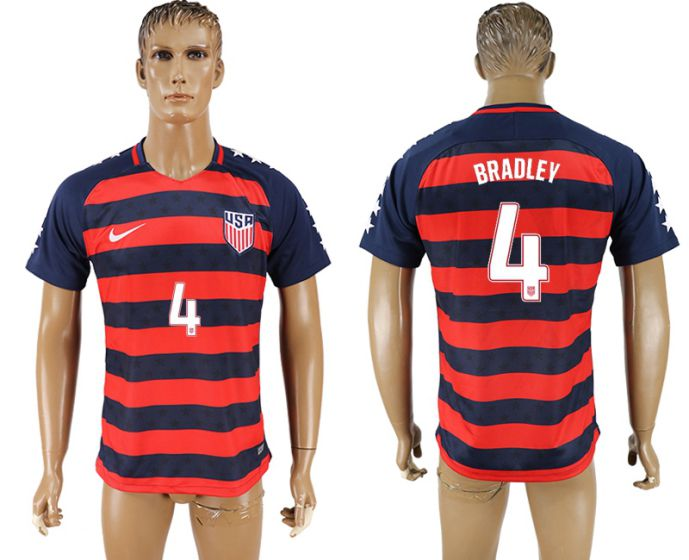 Men 2017-2018 national United States away aaa version 4 soccer jersey